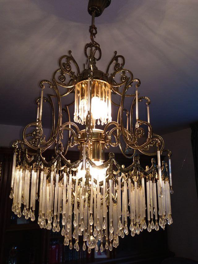 Lámpara vintage de cristal
