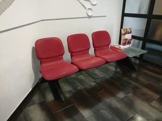 Banco 3 plazas para sala de espera