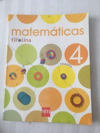 Libro matemáticas sm tirolina 4 primaria