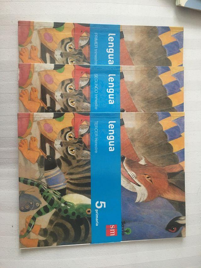 Libros lengua 5 primaria sm