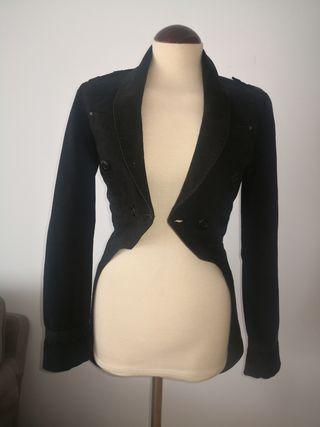 chaqueta americana estilo frac, talla s