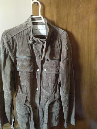 chaqueta Zara cuero talla XL