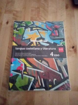 Libro de Lengua 4 ESO Editorial SM. ISBN 978846758