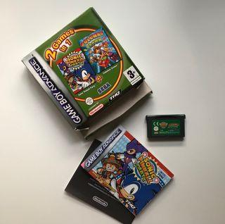 Sonic Pinball Party + columns Crown GBA