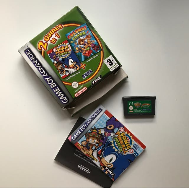 Sonic Pinball Party + columns Crown GBA