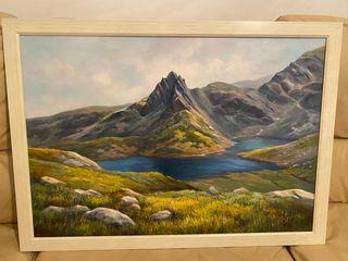 Cuadro pintado a mano pintor N. Nanev