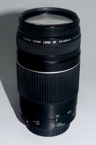Objetivo zoom CANON 75-300
