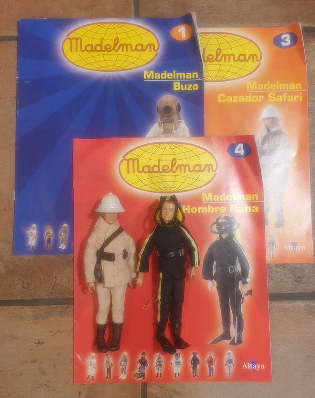 Madelman Altaya 1 3 4 Safari y Hombre rana
