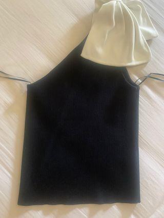 Top Zara lazo hombro