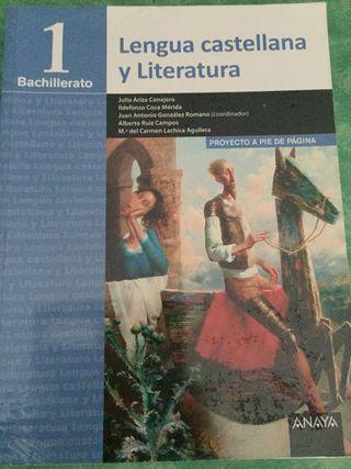 Lengua castellana y Literatura 1 Bachillerato.