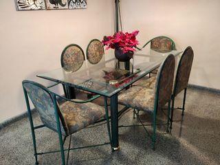 Conjunto sillas hierro forjado