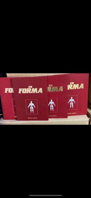 4 libros coleccion completa ejercicios con pesas