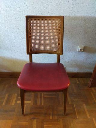 juego de sillas de diseño vintage