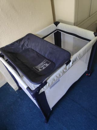 travel cot and changing unit