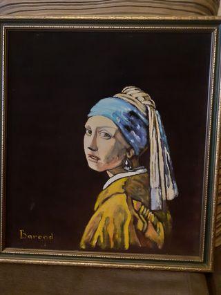 photo de la mujer de pendiente de cristal