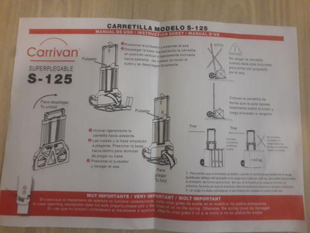 Carretilla super plegable aluminio 125kg