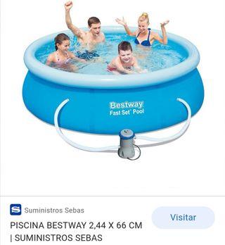piscina desmontable con depuradora
