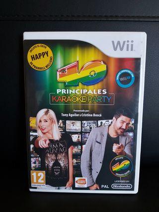 LOS 40 PRINCIPALES KARAOKE Para Wii