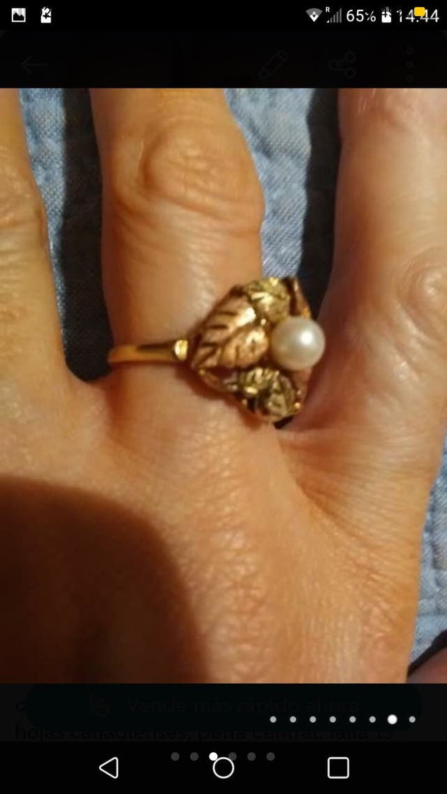14 carat yellow gold and pearl Ring