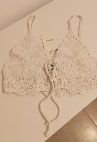 Crop top crochet talla S . Berskha