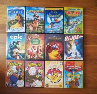 ! Oferton! 12 películas DVD infantiles.