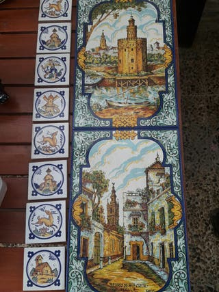 azulejos con motivos sevillanos