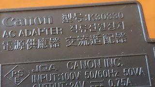 fuente Canon k30330 24v 0.75A DC