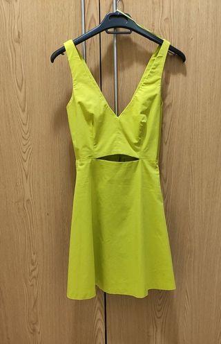 Vestido Zara pistacho verde amarillo