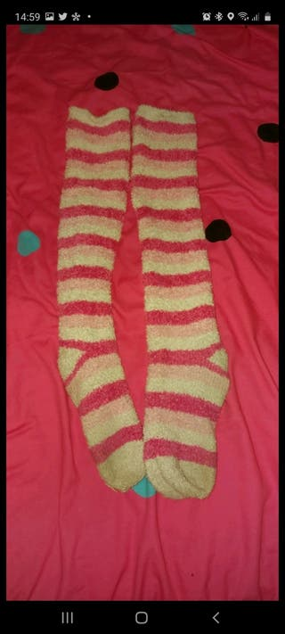 pink and white winter socks Need to go!!