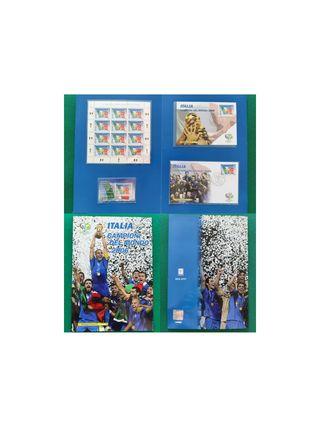 Carpeta sellos Italia Campioni del Mondo 2006 MNH