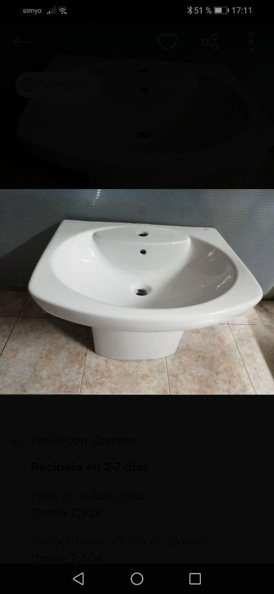 lavabo suspendido Roca