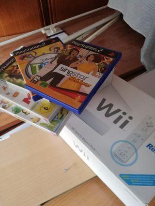 Wii con juegos y dos mandos