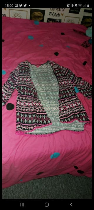 pink, black and white cardigan Need to go!!