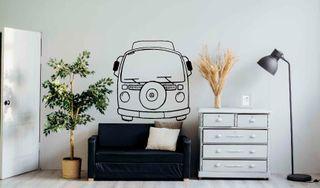 CARAVANA VW VINILO DECORATIVO PARED-sticker-Furgo