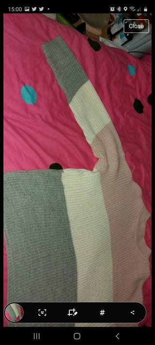 pink, white and grey jumper. Need To Go!!