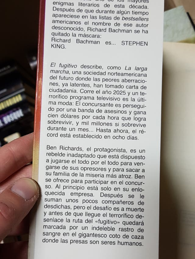 Stephen King el fugitivo