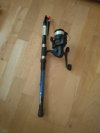 Caña de pescar + accesorios