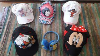 Lote de gorras, orejeras y diadema