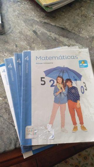 libro matemáticas cuarto primaria