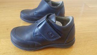 zapatos colegiales talla 28 100% piel sin estrenar