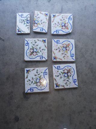 lote de azulejos antiguos