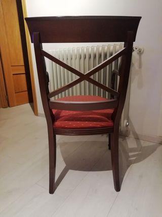 2 sillas con reposabrazos/sillones