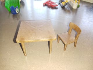 mesa y silla playmobil