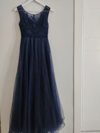 Vestido largo invitada boda o fiesta azul