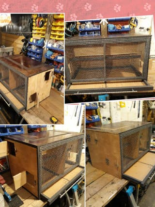 New Bird cage with 2 separated rooms and 2 nests b
