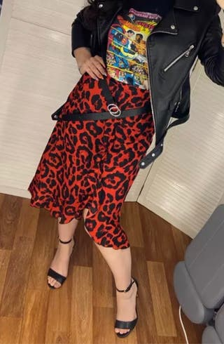 Falda leopardo Print
