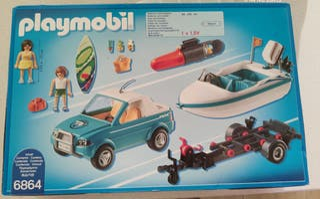 Playmobil con lancha