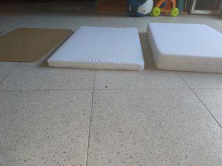 colchón+colchoneta+ estructura minicuna