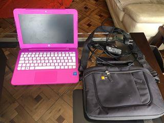 Portátil rosa HP + mochila