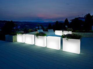 Maceteros muebles con luz